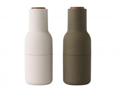Set dvou zeleno bílých silikonových mlýnků na sůl a pepř MENU GRINDER 20,5 cm