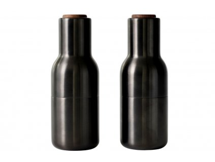 Set dvou černých kovových mlýnků na sůl a pepř MENU GRINDER 20,5 cm