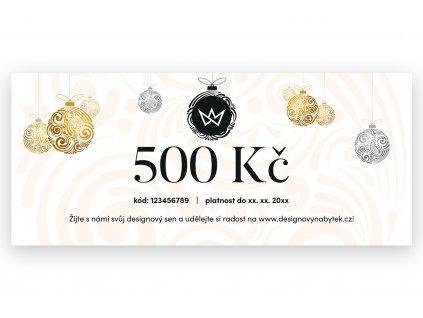 Vánoční dárkový poukaz 500 Kč