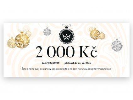 Vánoční dárkový poukaz 2 000 Kč