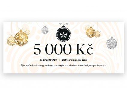 Vánoční dárkový poukaz 5 000 Kč