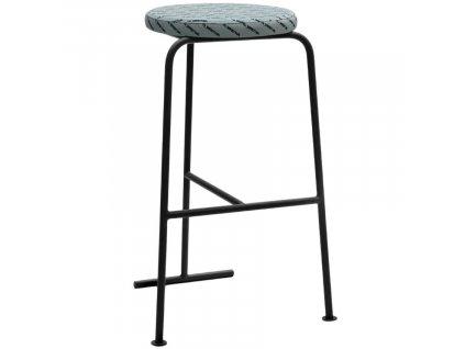 Černá kovová barová židle Marbet Fobos I. 80 cm