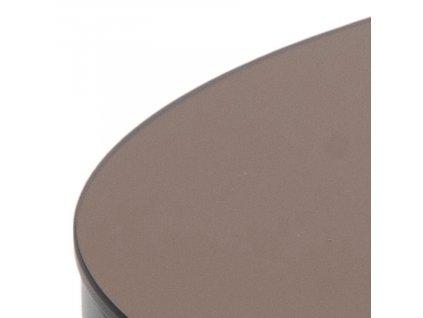 Měděný skleněný konferenční stolek Hood 80 cm