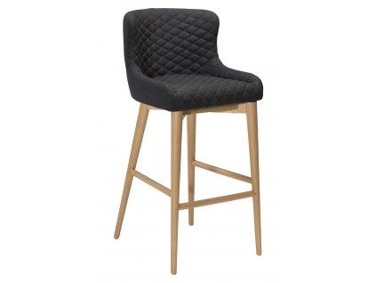 Barová židle DanForm Vetro, černá látka