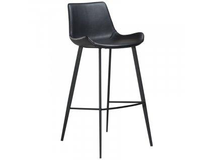 Černá koženková barová židle DanForm Hype 75 cm