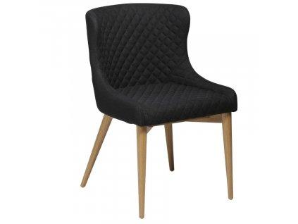 Černá látková jídelní židle DanForm Vetro