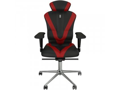 Červeno černé koženkové kancelářské křeslo Victory II.