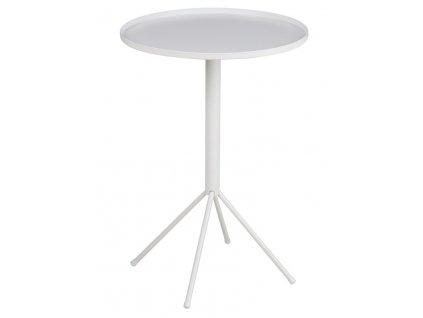 Odkládací stolek Silva, kov, bílá