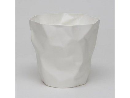 Odpadkový koš Crum, bílá