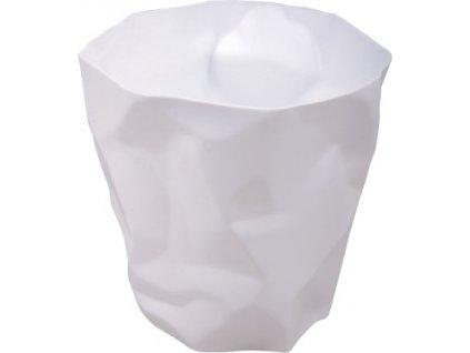 Bílý odpadkový koš Crum