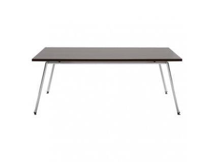 Dřevěný konferenční stolek MARBET FIN D s kovovou podnoží