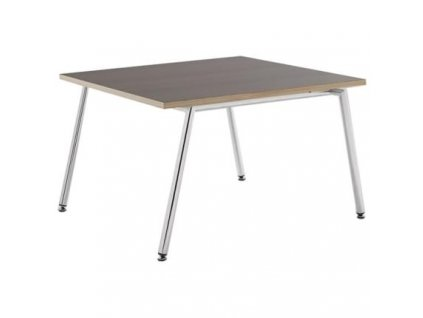 Dřevěný konferenční stolek MARBET FIN M s kovovou podnoží