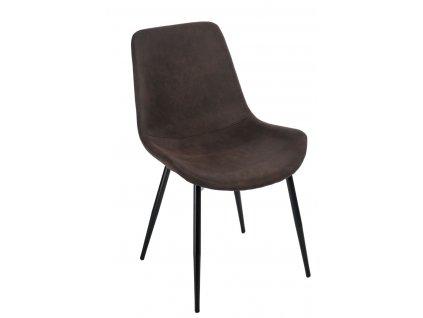 Designová židle Sofia, tmavě hnědá