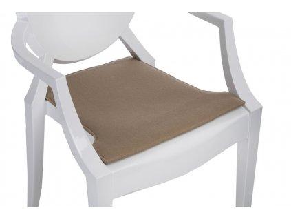 Tmavě béžový podsedák na židli Ghost