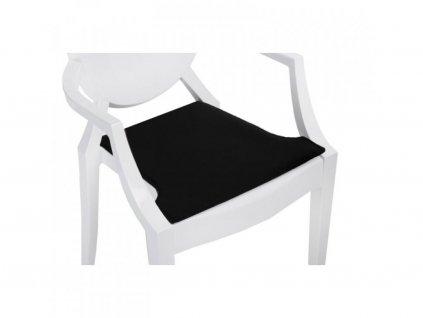 Černý podsedák na židli Ghost