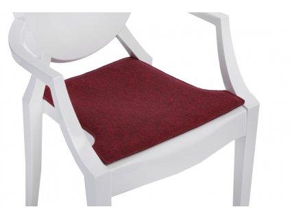 Tmavě červený podsedák na židli Ghost