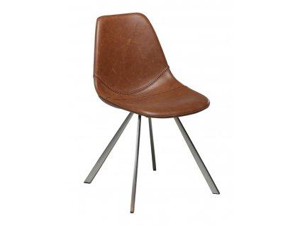 Hnědá čalouněná židle DanForm Pitch