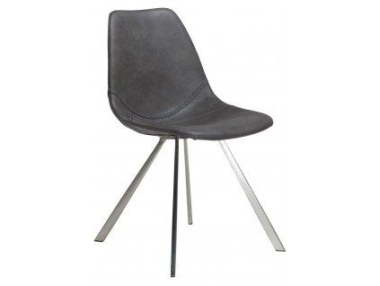 Šedá čalouněná židle DanForm Pitch