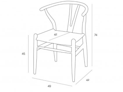 Dřevěná židle Bounce, přírodní