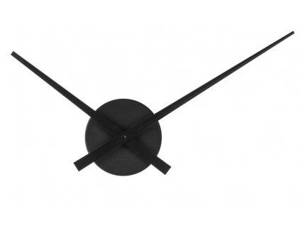 Černé nástěnné kovové hodiny Pointer 28 cm