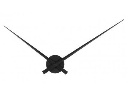 Černé nástěnné kovové hodiny Pointer 52 cm