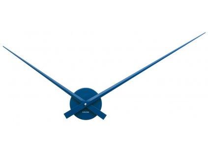 Modré nástěnné kovové hodiny Pointer 52 cm