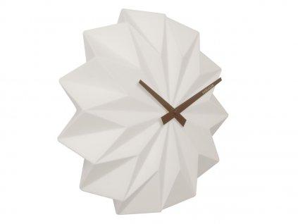Bílé keramické nástěnné hodiny Crane