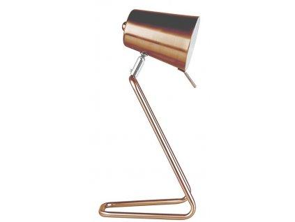 Měděná kovová stolní lampa Treu