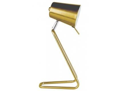 Zlatá kovová stolní lampa Treu