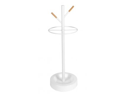Bílý kovový stojan na deštníky Fusion