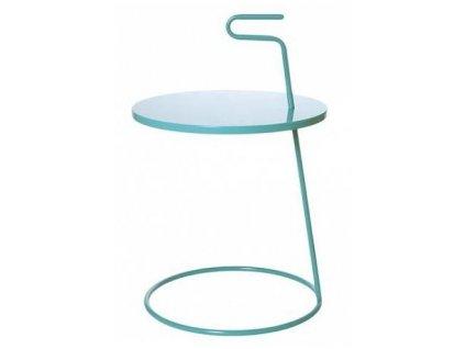 Tyrkysový kovový odkládací stolek Fool 42 cm