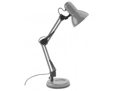 Šedá kovová stolní lampa Reino