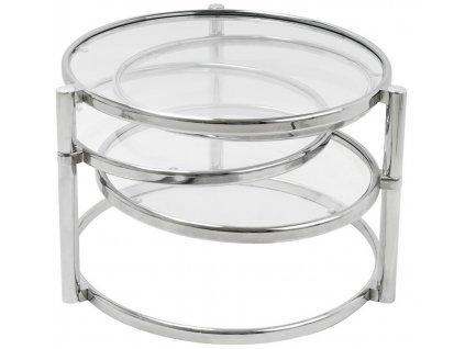 Chromový odkládací otočný stolek Bout 60x43 cm