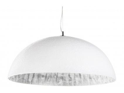 Bílostříbrné závěsné světlo Dome 70 cm