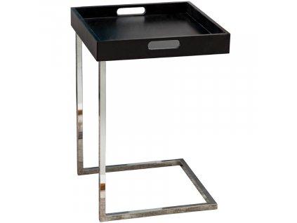 Černý plastový odkládací stolek Tibot 40x40 cm