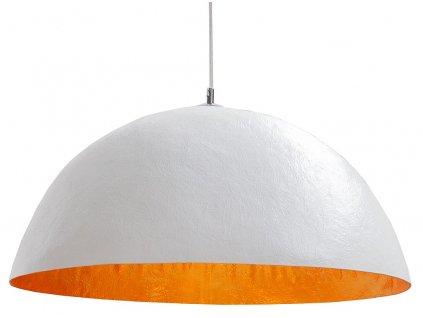 Bílozlaté závěsné světlo Dome 50 cm