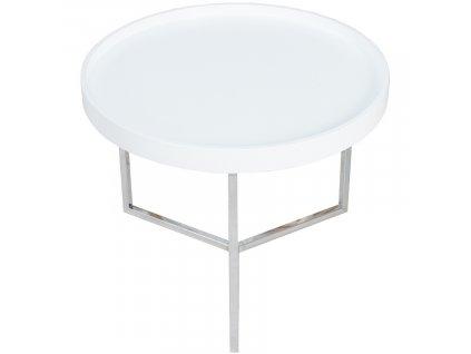 Bílý kulatý konferenční stolek Cotis 60 cm