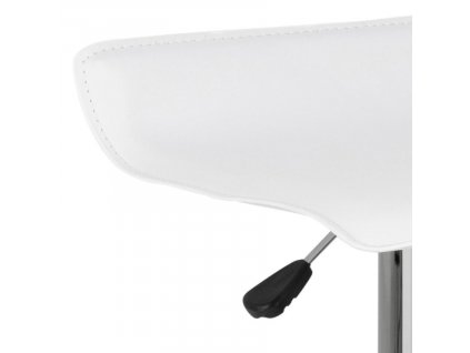 Bílá koženková barová židle Dany 84 cm