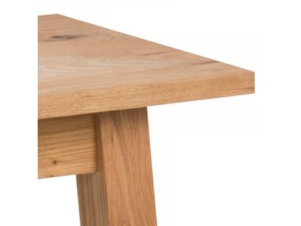 Dřevěná lavice Rachel 110 cm, přírodní dubová dýhová deska ošetřená olejem, přírodní dubová dýhová podnož ošetřená olejem
