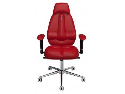 Červené koženkové kancelářské křeslo Classic