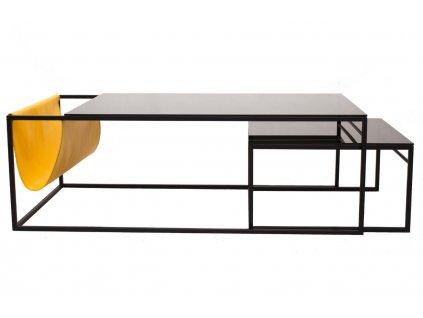 Set dvou kovových konferenčních stolků Pocket 120 x 60/55 x 55 cm