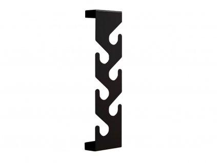 Černý kovový nástěnný věšák Montoro lakovaný