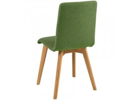 Olivová látková jídelní židle Areta