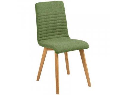 Olivová čalouněná jídelní židle Areta