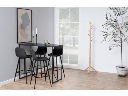Dřevěný stojanový věšák v minimalistickém designu Hamburg II, přírodní hnědá barva