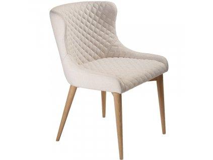 Krémová látková jídelní židle DanForm Vetro