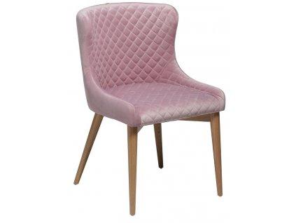 Růžová jídelní židle DanForm Vetro
