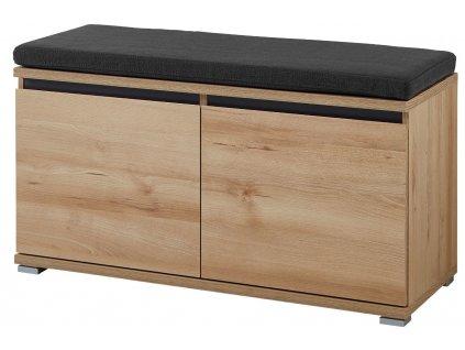 Bukový dřevěný botník Germania Lissabon 3474  96 x 40 cm
