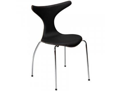 Čalouněná jídelní židle Dan-Form Dolphin, černá barva