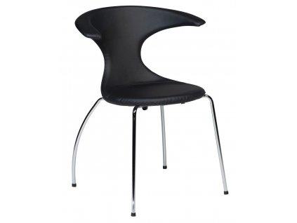 Černá čalouněná židle DanForm Flair